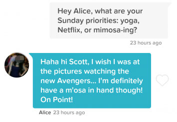 good first message about Sunday priorities