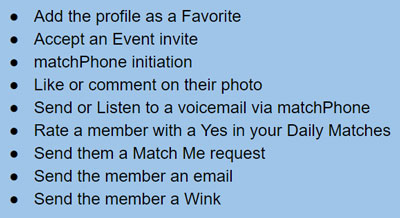 Actions that make your profile visible in Private Mode