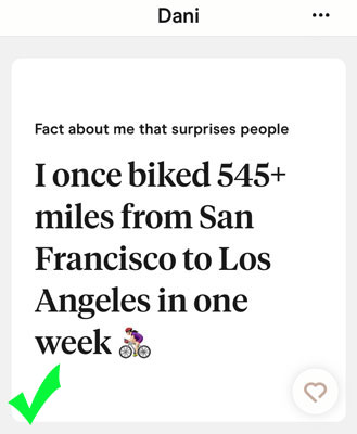 Hinge answer that shows you're adventurous