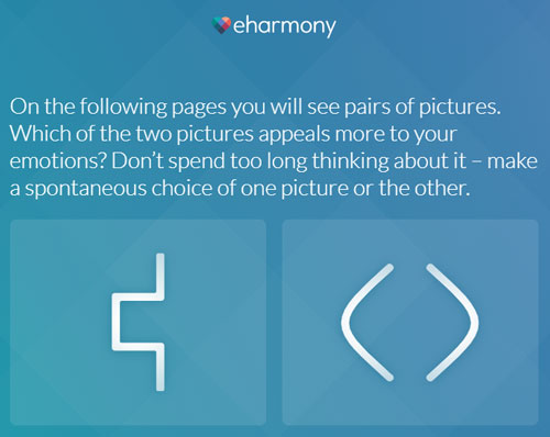 eHarmony visual example
